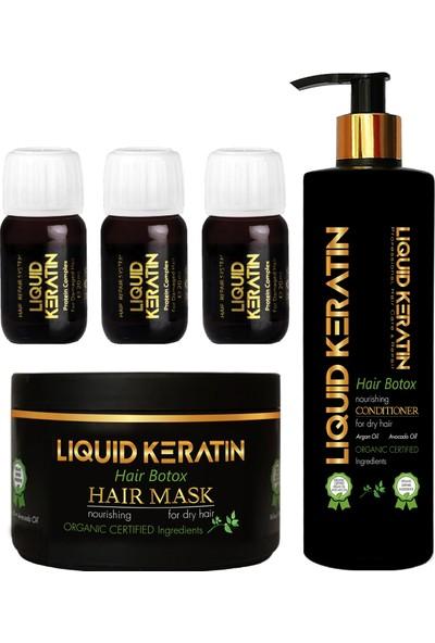 Liquid Keratin Yıpranmış Saçlara Bakım Onarıcı Full Set Kremli