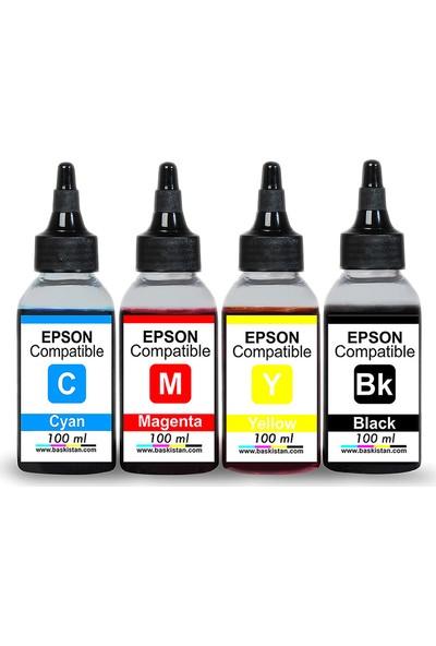 Baskistan Epson L386 Uyumlu Mürekkep Seti 4x100 ml 3000 Sayfa
