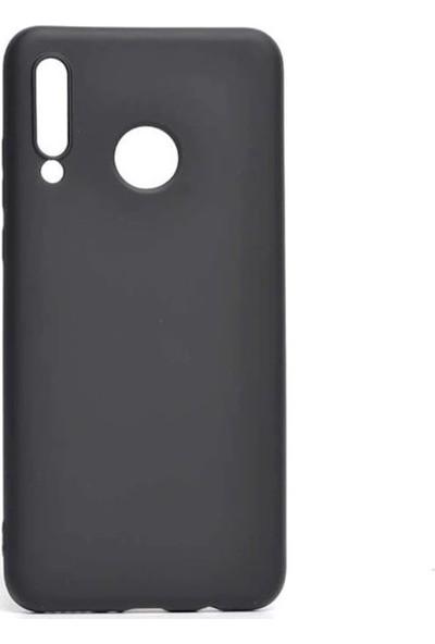 Vısıon Huawei P30 Lite Premium Silikon Siyah Kılıf