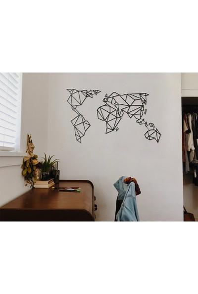 Monge Dizayn Dünya Haritası Metal Tablo
