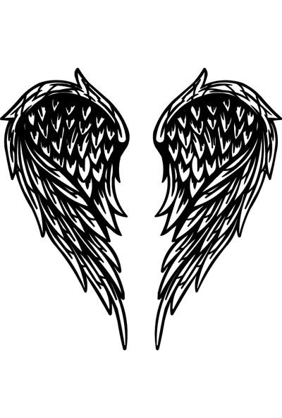Monge Dizayn Kalp Kanadı Metal Tablo