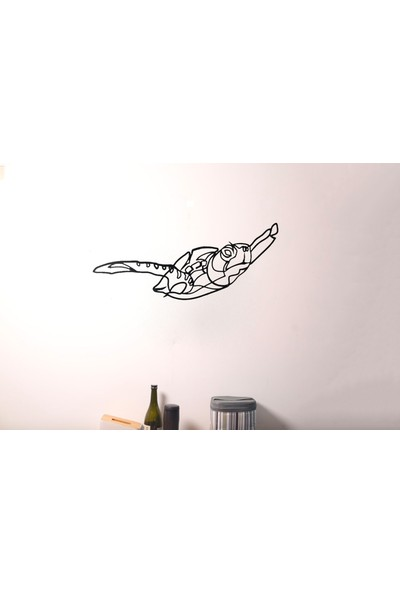 Monge Dizayn Kaplumbağa Metal Tablo