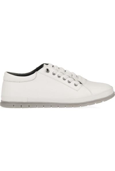 Ziya Erkek Deri Ayakkabı 101165 492 Beyaz