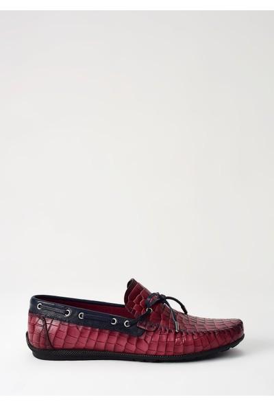 Ziya Erkek Deri Ayakkabı 101415 396011 Bordo