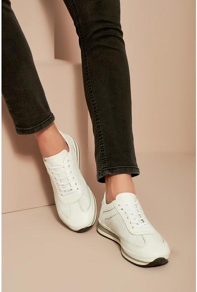 Ziya Erkek Deri Ayakkabı 101415 688016 Beyaz