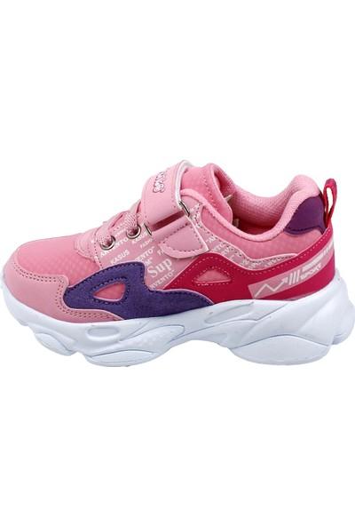 Ayakland Arv 285 Günlük Cırtlı Kız - Erkek Çocuk Spor Ayakkabı Pembe