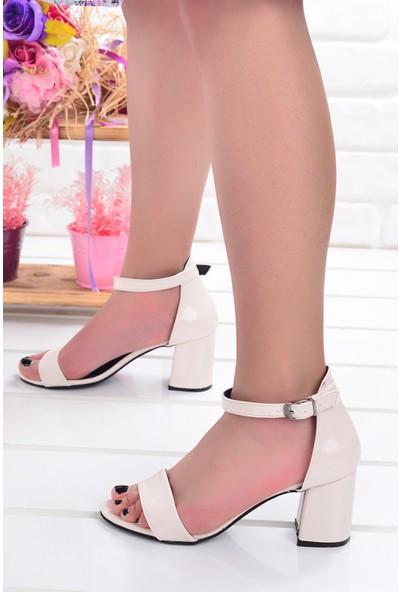 Ayakland 2013-05 Çatlak 7 Cm Topuk Kadın Sandalet Ayakkabı Sarı