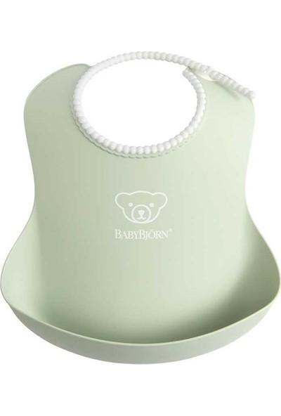 Babybjörn Yumuşak Plastik Mama Önlüğü - Powder Green