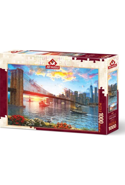 Art Puzzle New York'ta Günbatımı 1000 Parça Puzzle