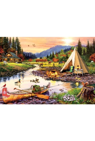 Art Puzzle Kamp Dostları 3000 Parça Puzzle