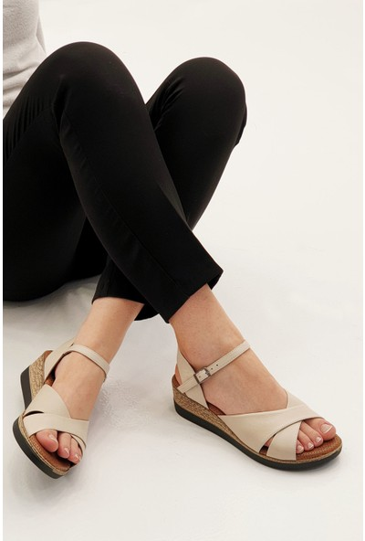 Marjin Kadın Arasto Dolgu Sandalet