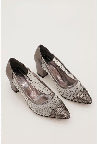 Marjin Kadın Lubas Topuklu Abiye Ayakkabı