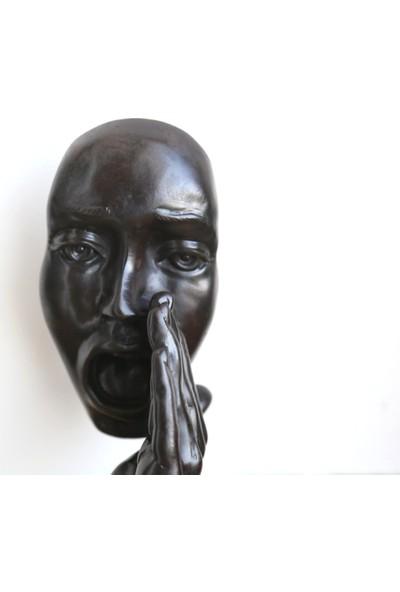 Miamantra Sessiz Çığlık Maske Heykelcik 28 cm
