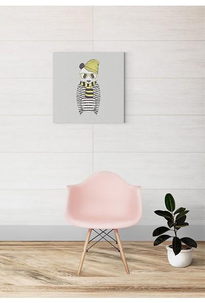 Evmila Sarı Şapkalı Panda Kanvas Tablo Modeli 926