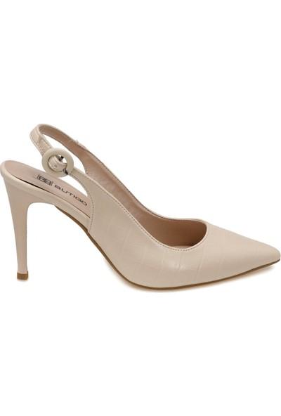 Butigo Finn Bej Kadın Topuklu Ayakkabı