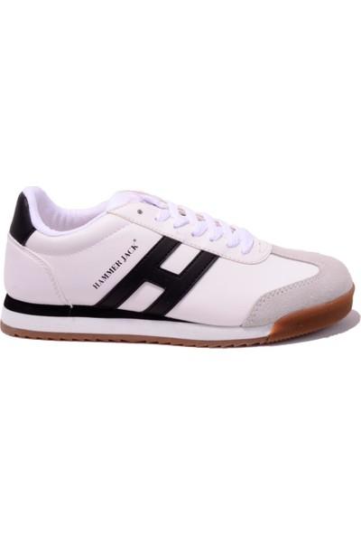 Hammer Jack Beyaz-Siyah-Krep Kadın Ayakkabı 102 20000-G