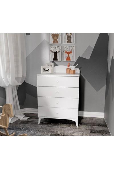 Afillibebek Kanguru Yavrulu Çocuk Odası Beyaz