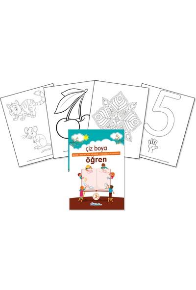 Çocuklar İçin Boyama Kitabı - Çiz Boya Öğren