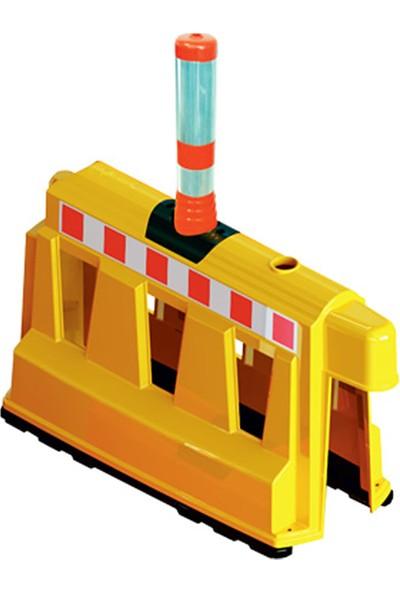 İlgi Trafik Plastik Güvenlik Bariyeri Delinatörlü 400 x 1000 x 600 mm Sarı