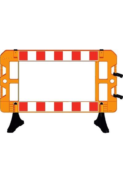 İlgi Trafik Plastik Güvenlik Bariyeri Levhalı Güvenlik Barikatı 1500 x 1000 mm Sarı