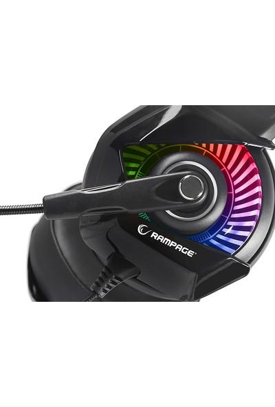 Rampage RM-K66 Typhoon Siyah USB 7.1 RGB Ledli Oyuncu Mikrofonlu Kulaklık