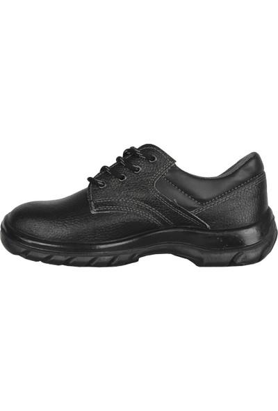 Ayakcenter Siyah Deri Çelik Burun Erkek Ayakkabı
