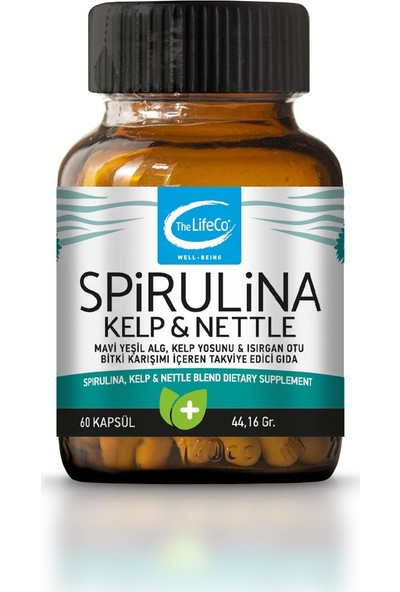 The LifeCo Spirulina, Kelp&Nettle 60 Kapsül