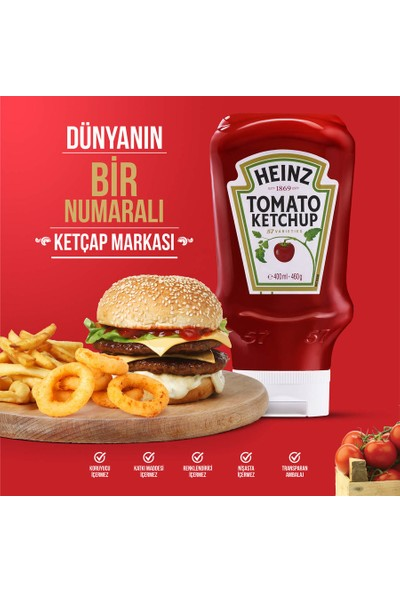 Heinz Ketçap Ekstra Acı 460 gr