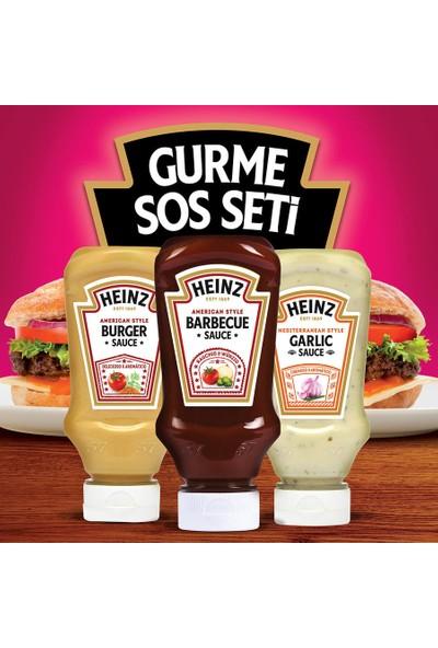HEINZ Gurme Sos Seti - 3'lü 250 ml American Burger + 250 ml Barbekü + 250 ml Sarımsak Sos