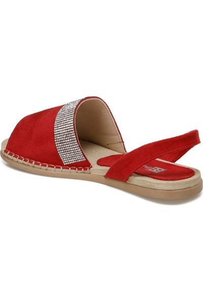 Butigo İbiza Kırmızı Kadın 832 Sandalet
