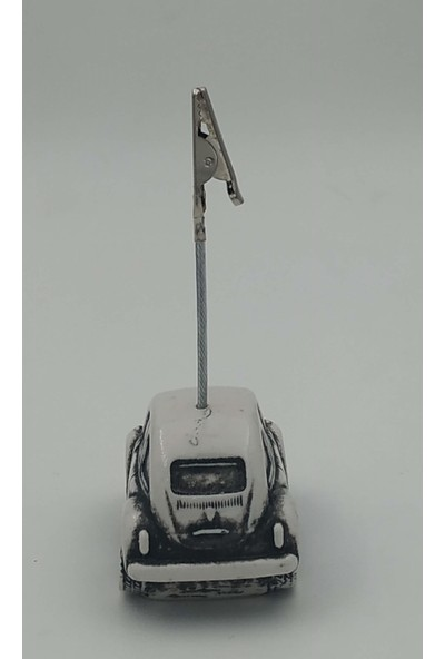 Ema Masaüstü Not Tutucu Vosvos Nostalji Kağıdı Kıskaç Beyaz