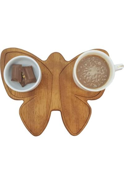 Woodlife Iroko Çay Altlığı Kelebek