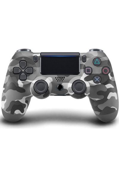 Kontorland PS4 Dualshock 4 V2 Gri Kamuflaj Joystick Kol