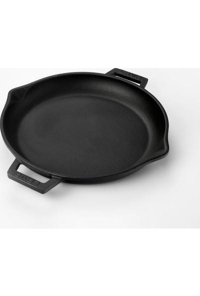 Lava Döküm Yuvarlak Kızartma Tavası 30 cm Siyah