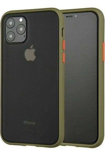 Vision Apple iPhone 11 Pro Kılıf Mat Sert Korumalı Tank Silikon Kılıf - Yeşil