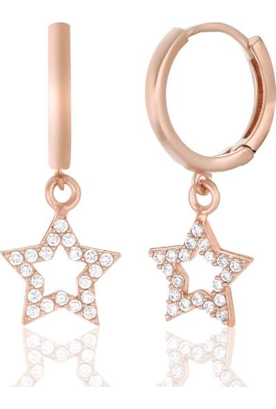 Rachon Azuris 925 Ayar Gümüş Taşlı Yıldız Küpe