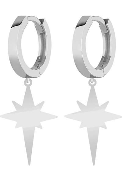Rachon Azuris 925 Ayar Gümüş Kutup Yıldızı Küpe