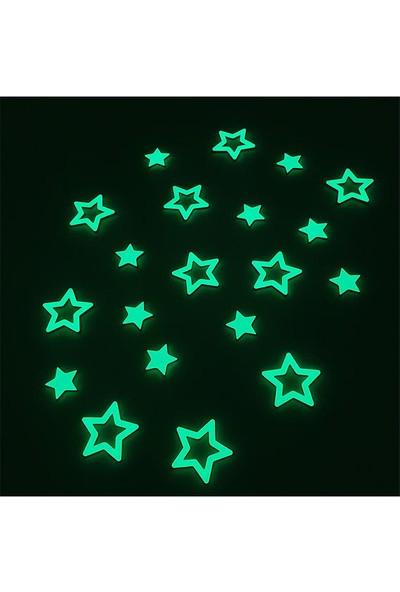 Faami Style Fosforlu Yıldızlar 20 Adet Fosforlu Duvar Süsü