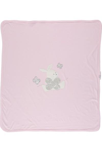 Baby Dream Tavşanlı Kelebekli Penye Bebek Battaniye