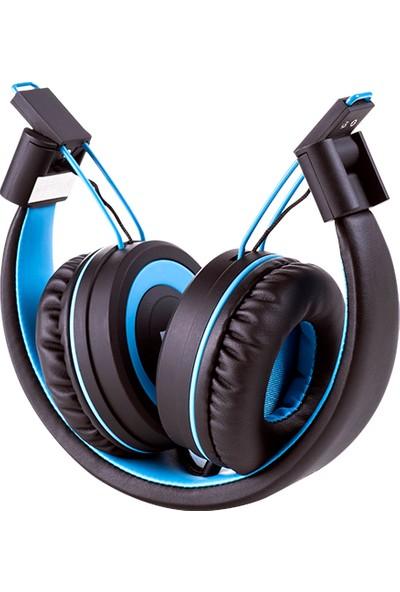 Polosmart FS28 Kablosuz Kulaklık - Mavi