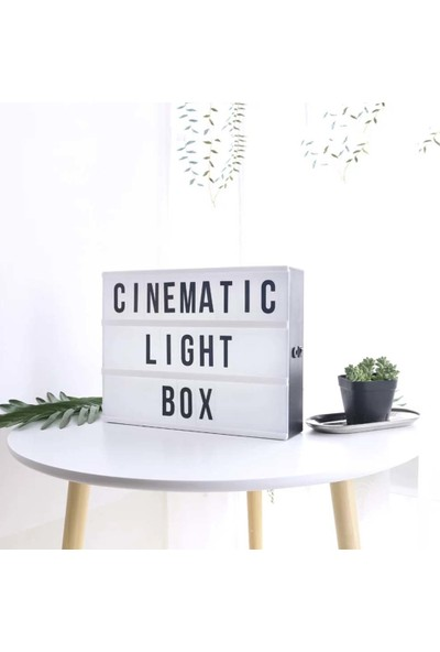Patladı Gitti A4 Boyut 30,5 x 22 cm Lightbox Işıklı Yazı Panosu 96 Harf Karakter Seti