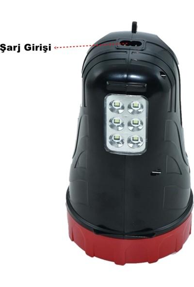 Yopigo ST-6665 Ultra Güçlü 15 LED Şarjlı El Feneri + 6 LED Yan Aydınlatma