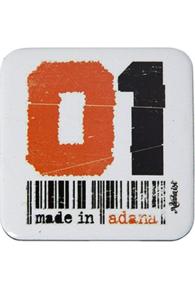 Adana İşi 01 Barkod Turuncu Magnet (Üçlü)