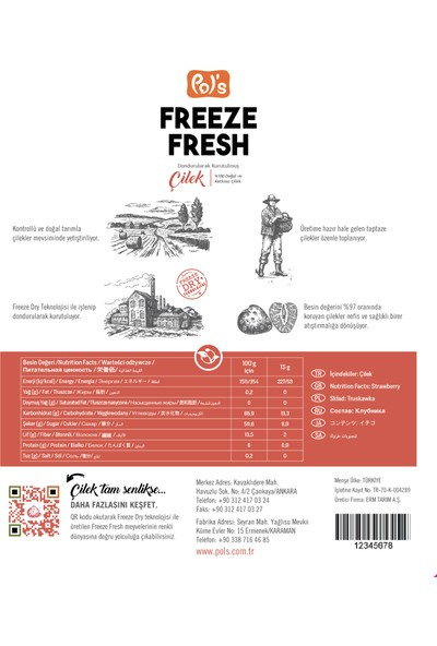 Freeze Fresh 2'li Freeze Fresh Çilek + 1 Böğürtlen