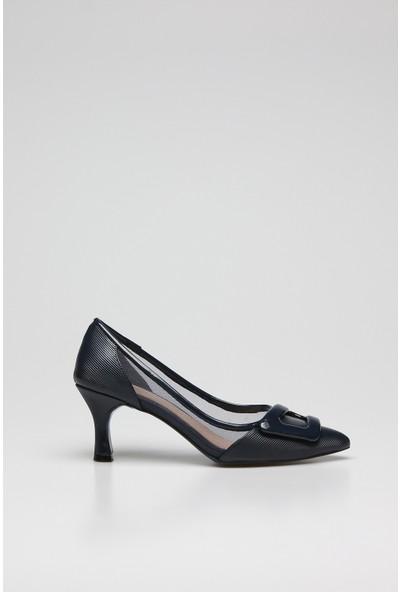 Rovigo Kadın Zenne Deri Topuklu Ayakkabı