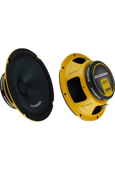 Soundmax Oto Hoparlör 300W 20 cm Midrange 2 Adet Soundmax SX-M8VX