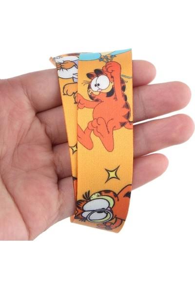 Kürkçü Garfield Boyun Askı Ipi Turuncu
