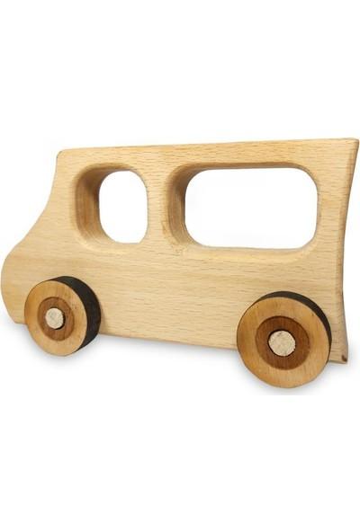 El Yapımı Ahşap Oyuncak Araba