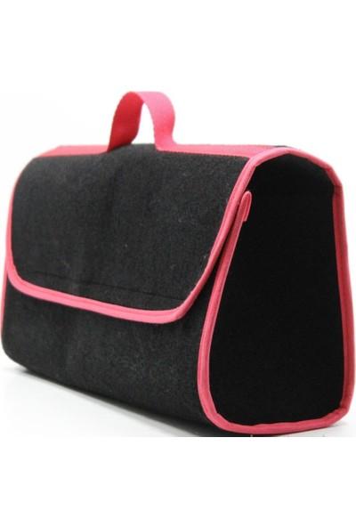 Tvet Tabanı Tutan Kalın Kırmızı Şeritli Siyah Halı Bagaj Çantası T036765