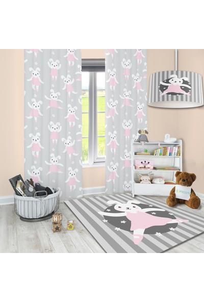 Homessa Sevimli Tavşanlı 80 x 150 Çocuk Halısı